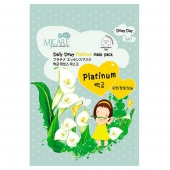 Листовая маска MJ Care Daily Dewy Platinum Mask Pack 2600